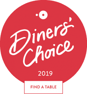 Eleni's Kitchen and Bar Diners Choice Award 2019 from Open Table