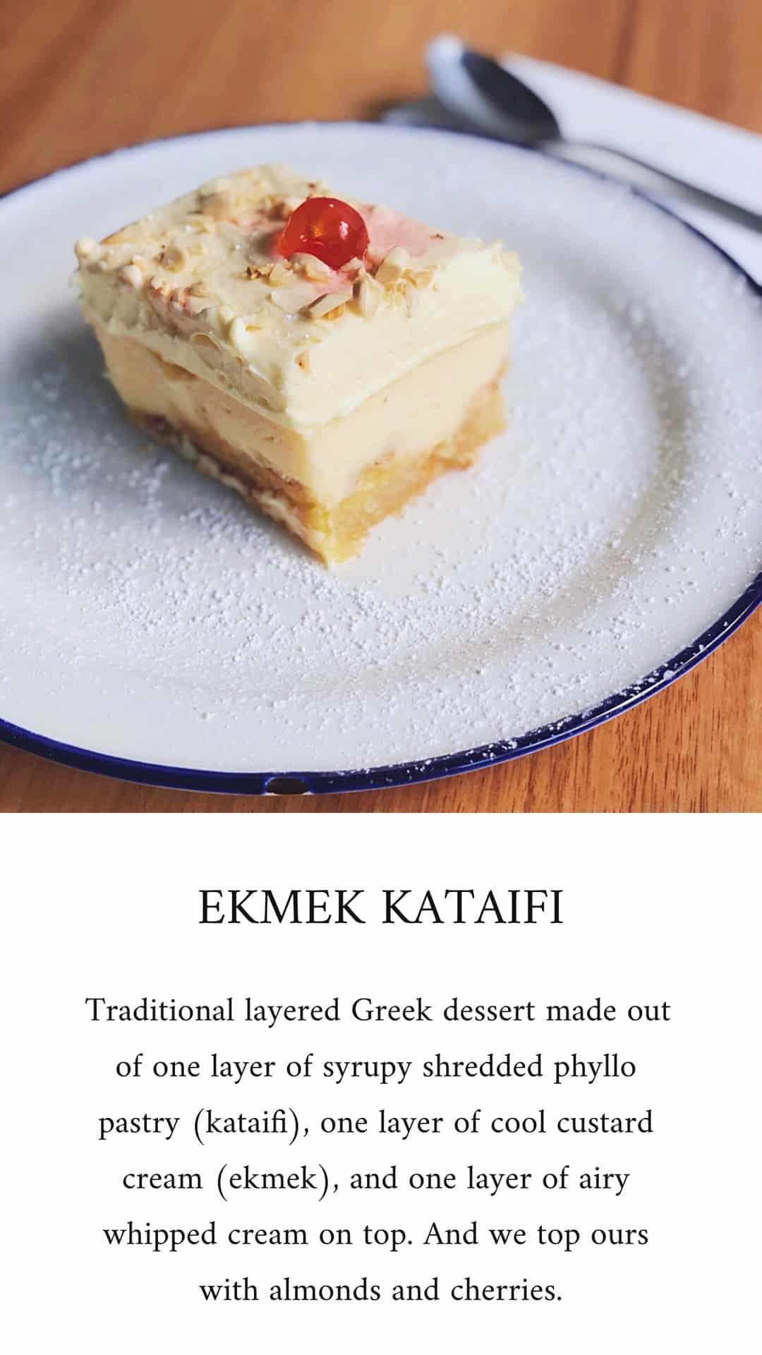 Ekmek Kataifi Greek dessert