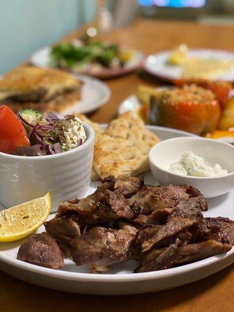 Plate of lamb gyros